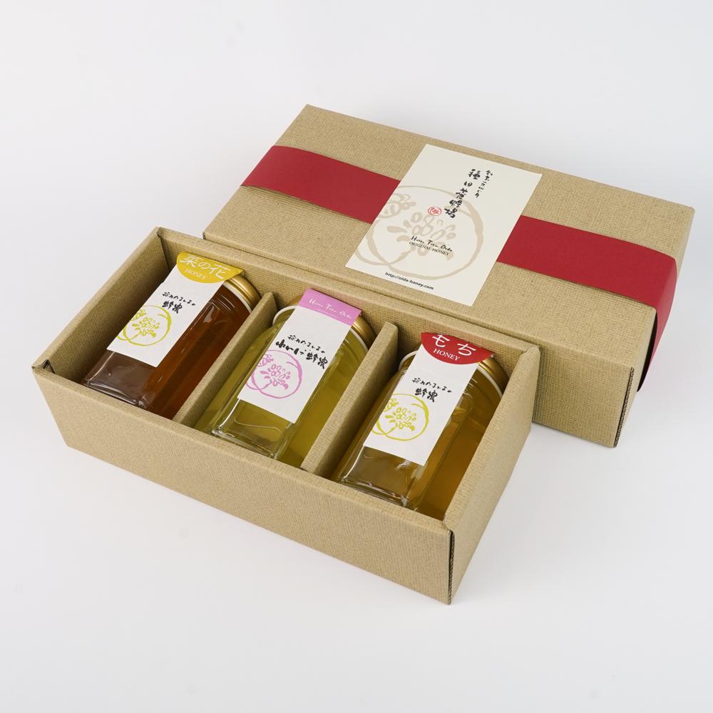 大垣セット 菜の花蜂蜜 れんげ蜂蜜 くろがねもち蜂蜜 種田養蜂場
